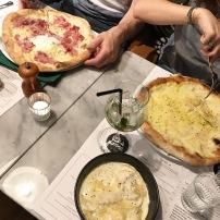 Ravioles farcies au fromage et Pizza 4 fromages